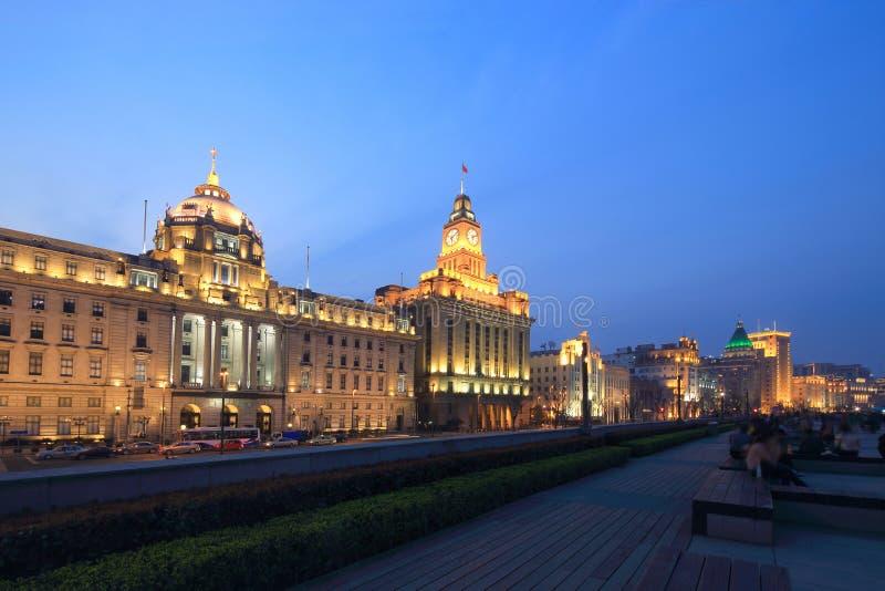 Shanghai a cena da noite da barreira fotos de stock royalty free