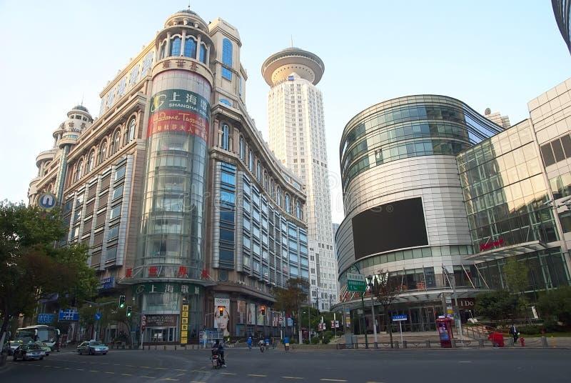 Shanghai centrum arkivfoton