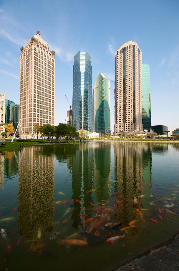 Download Shanghai Century Avenue Skyline Stock Image - Image of skyscraper, structure: 12128441