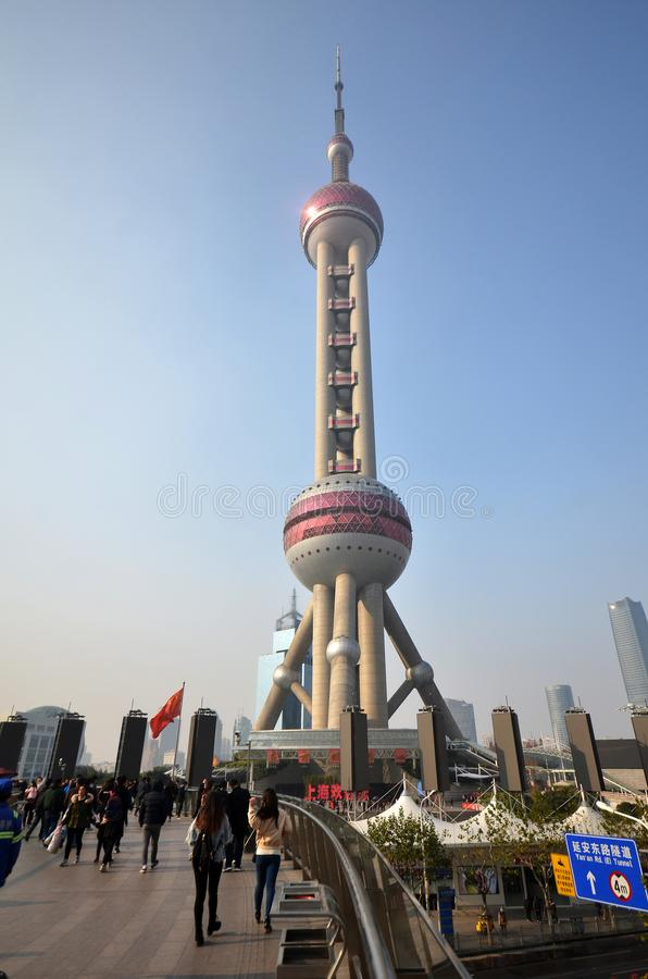 Oriental Pearl Tower in Shanghai royalty free stock images