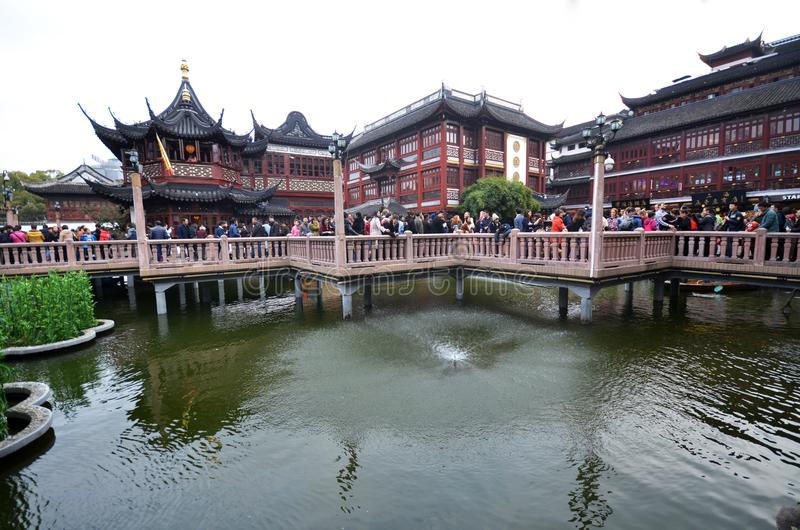 Yu Yuan Yu Garden Old Street in Shanghai, China stock photos