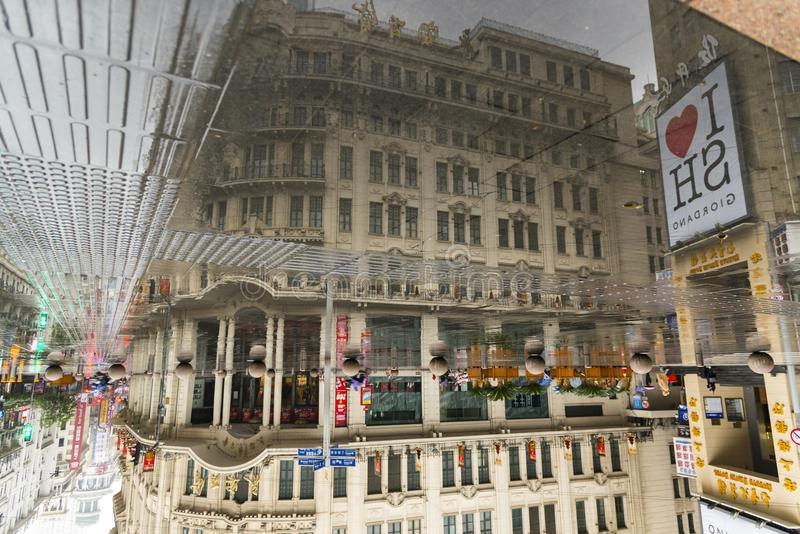 SHANGHAI, CHINA - January 3, 2018: Historical architecture on Ea royalty free stock photos
