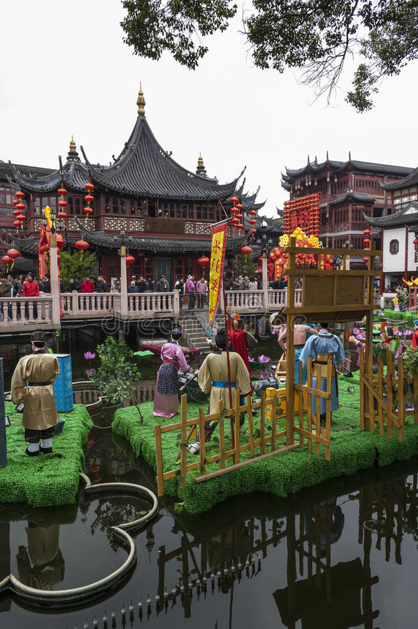 SHANGHAI/CHINA 5 marzo 2007 - giardini di Yu un giardino del XVII secolo fotografia stock libera da diritti