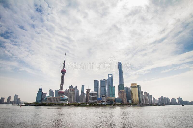 Shanghai, China, Pudong skyline stock images
