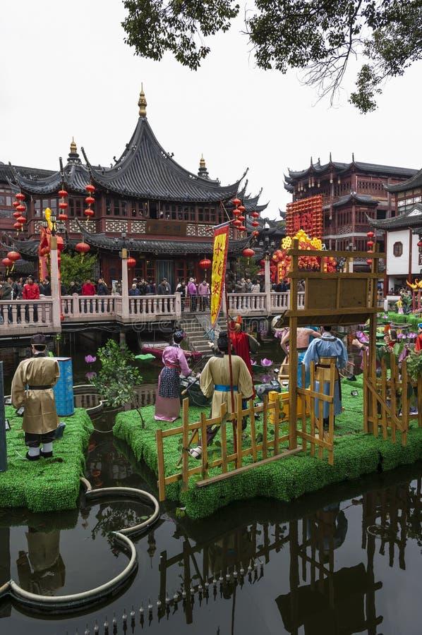 SHANGHAI/CHINA 5TH MAART 2007 - Yu tuiniert een de 17de Eeuwtuin royalty-vrije stock foto