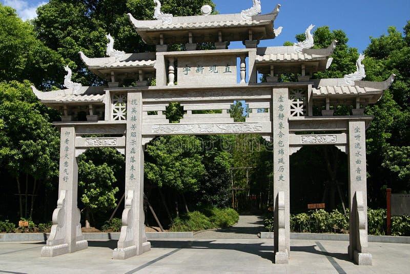 Shanghai city portal stock images