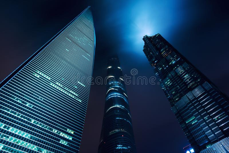 Shanghai city scape, Shanghai luajiazui finance and business dis. Trict skyscrapers, Shanghai China. Asia royalty free stock images