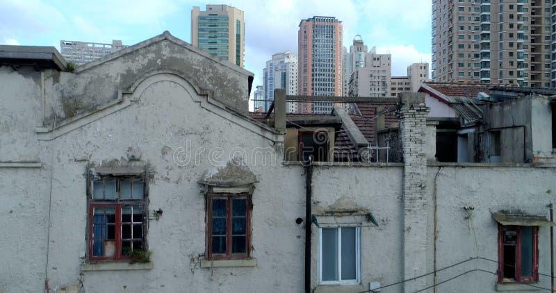 Shanghai - continu veranderende stad royalty-vrije stock afbeeldingen