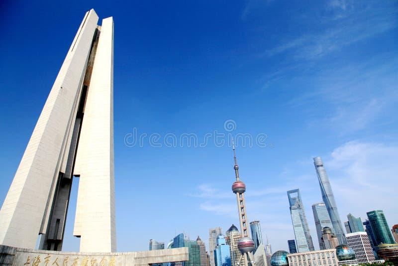 Shanghai, de biggiststad in China royalty-vrije stock foto's