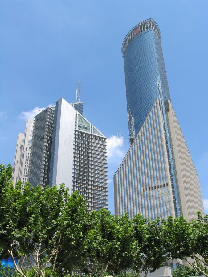 Shanghai de stad in stock foto's