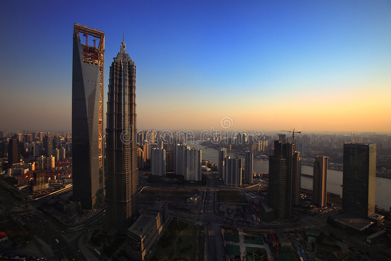 shanghai dzisiaj obrazy royalty free