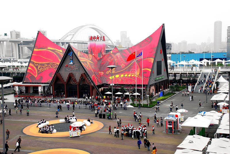 Shanghai EXPO, het paviljoen van Maleisië stock fotografie