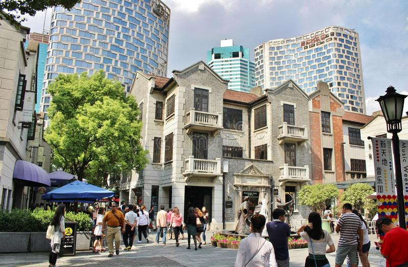 Shanghai French Concession. The French Quarter, or French Concession in English, was one of the premier European districts in Shanghai from the mid 19th century stock photography