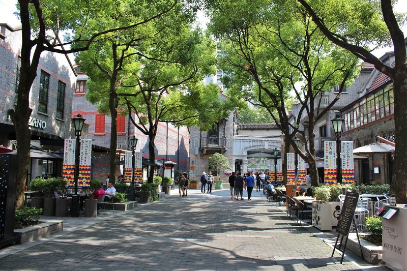 Shanghai French Concession. The French Quarter, or the French Concession in English, was one of the main European districts of Shanghai from the mid 1800s to stock photo