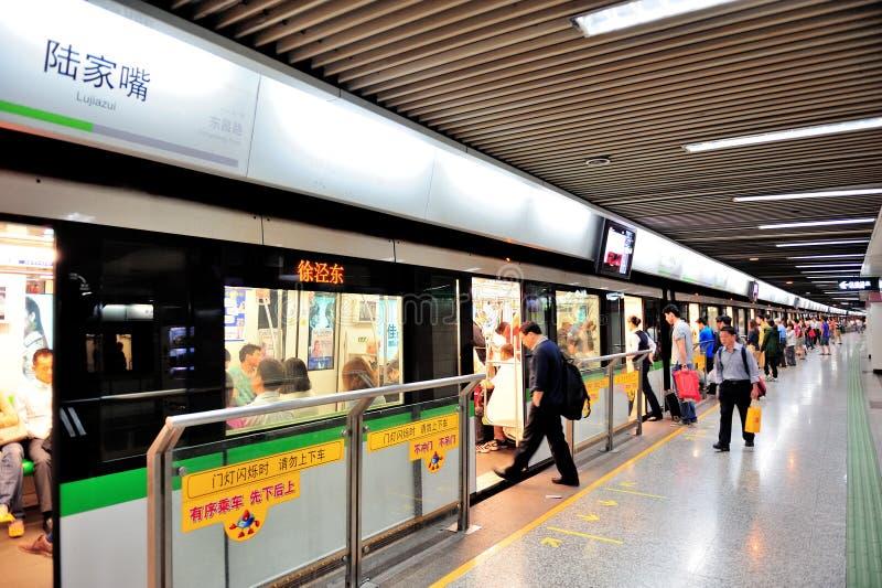Shanghai gångtunnel arkivfoto