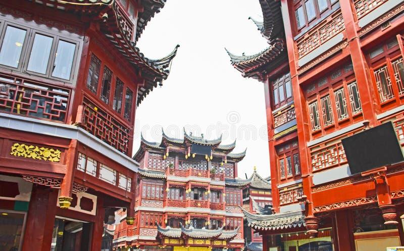 Shanghai gammal town, Yuyuan trädgårdar royaltyfri bild