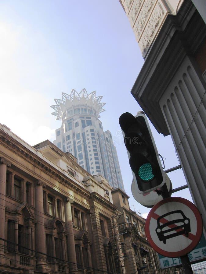 shanghai gator fotografering för bildbyråer