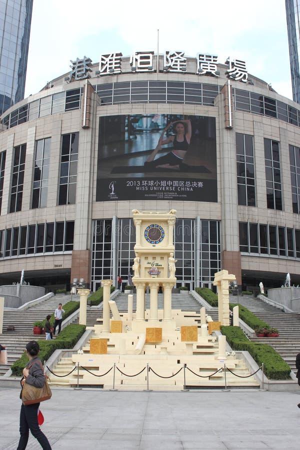 Shanghai, Grand Gateway 66 held Saint Seiya OL theme exhibition stock photography
