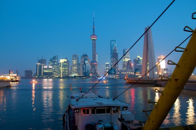 Shanghai Harbor stock photo