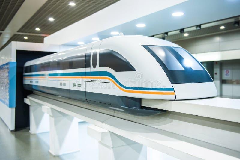 Shanghai-Hochgeschwindigkeitsmagnetschwebebahn-Modell stockbild
