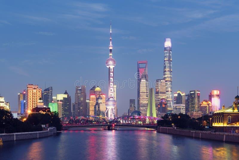 shanghai horisont fotografering för bildbyråer