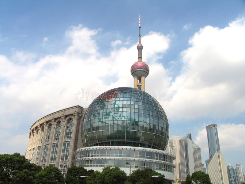 Shanghai im Stadtzentrum gelegen stockbilder