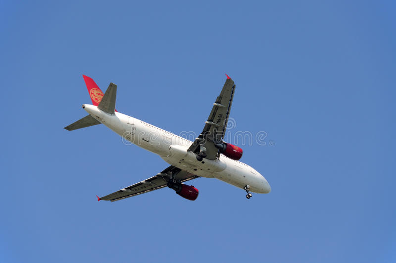 Shanghai Juneyao Airlines royalty free stock photography