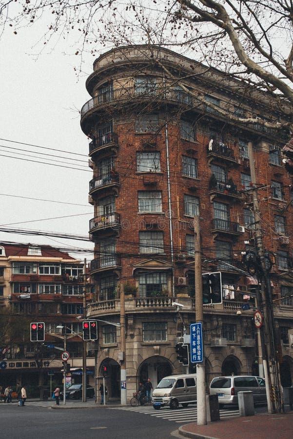 SHANGHAI KINA: Mig S Lägenhet för S Normandie arkivfoto