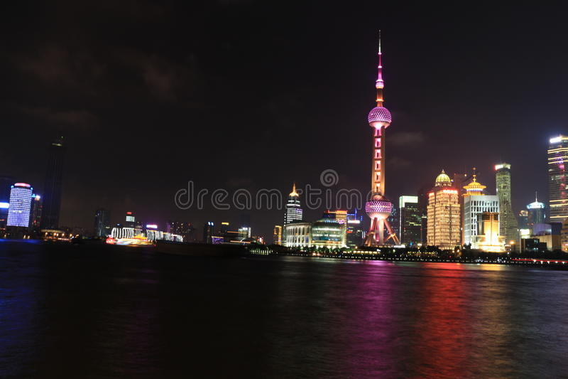 Shanghai landmark, the oriental pearl TV tower royalty free stock images
