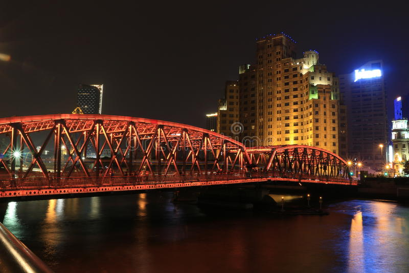 Shanghai landmarkï ¼ ŒOutside de Witte Brug royalty-vrije stock afbeelding