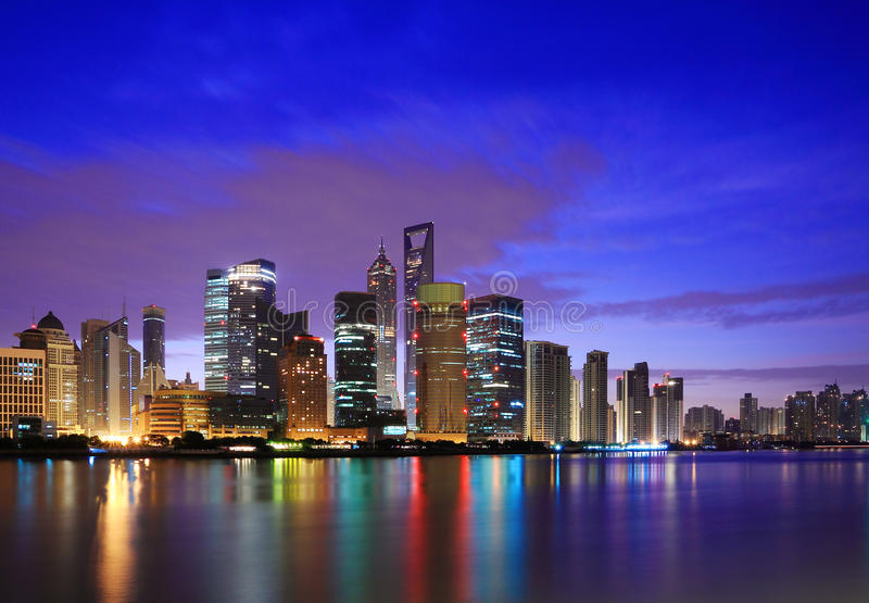 Download Shanghai Landmark Skyline At Dawn Royalty Free Stock Photography - Image: 27754617