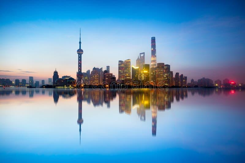 shanghai linia horyzontu obraz stock