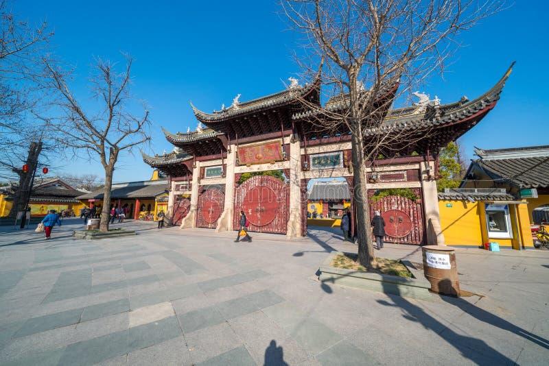 Shanghai Longhua Temple, China lizenzfreies stockbild