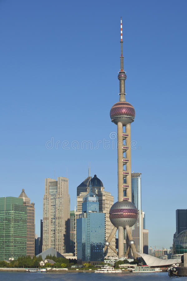 Shanghai Lujiazui. Lujiazui, Shanghai is China's international financial and trading center, located opposite the Shanghai Bund, the symbol of China's economic royalty free stock photo