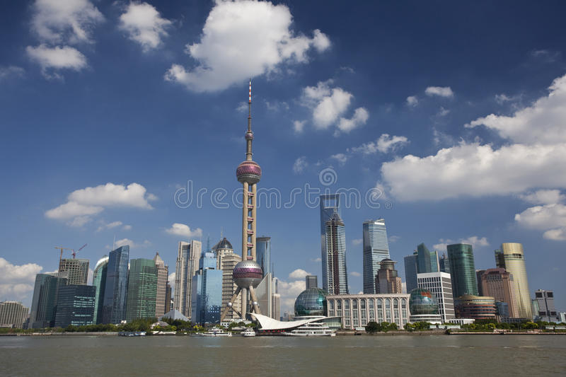 Shanghai Lujiazui. Lujiazui, Shanghai is China's international financial and trading center, located opposite the Shanghai Bund, the symbol of China's economic royalty free stock photos