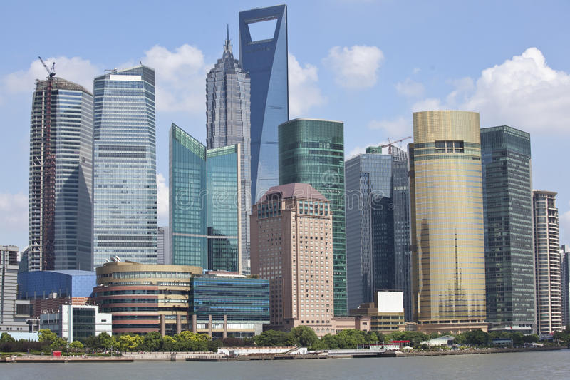 Shanghai Lujiazui. Lujiazui, Shanghai is China's international financial and trading center, located opposite the Shanghai Bund, the symbol of China's economic royalty free stock image