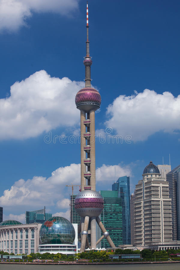 Shanghai Lujiazui. Lujiazui, Shanghai is China's international financial and trading center, located opposite the Shanghai Bund, the symbol of China's economic stock photo