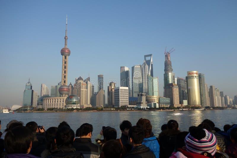 Shanghai Lujiazui stock afbeeldingen