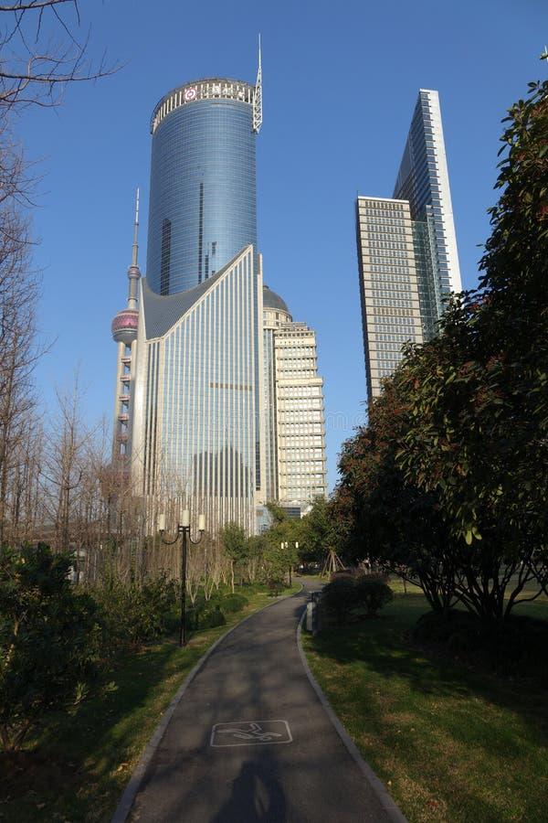 Shanghai Lujiazui stock foto's