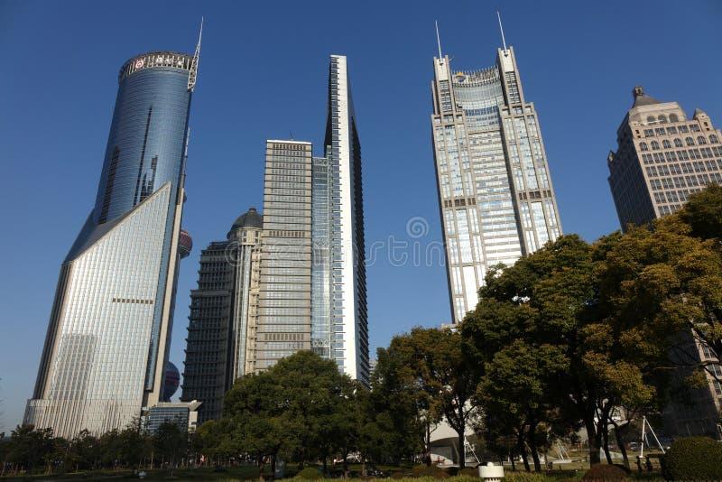 Shanghai Lujiazui stock afbeelding