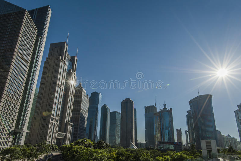 Shanghai Lujiazui. Business and financial center royalty free stock photos