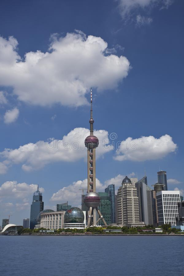 Shanghai Lujiazui. Lujiazui, Shanghai is China`s international financial and trading center, located opposite the Shanghai Bund, the symbol of China`s economic royalty free stock photography