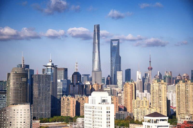 Shanghai Lujiazui Pudong China cityscape royalty free stock photo