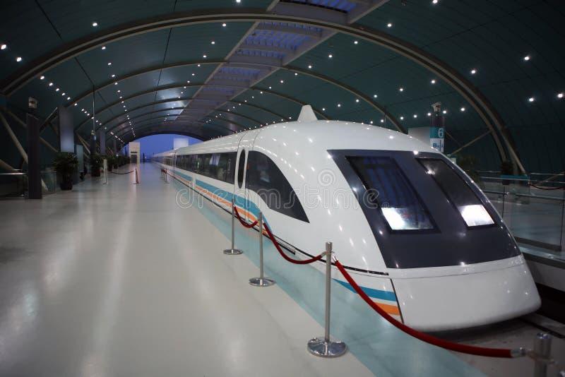 Shanghai maglev train royalty free stock photo