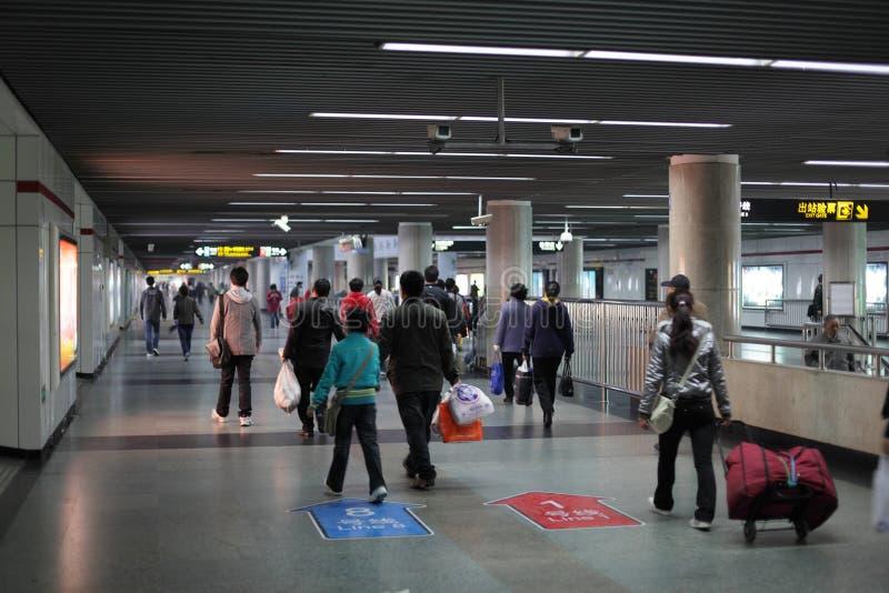 Download Shanghai Metro Station editorial stock image. Image of metro - 18357274
