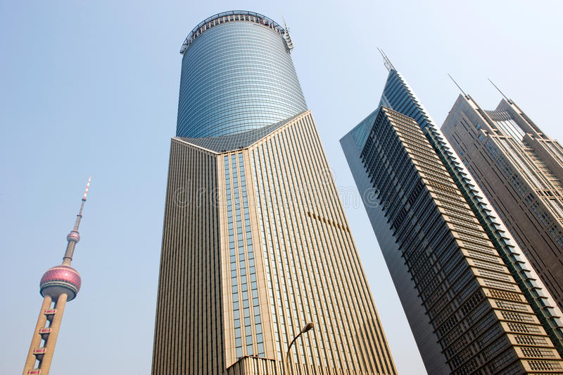 Shanghai modern buildings. Skyline in Shanghai with modern buildings. China royalty free stock images