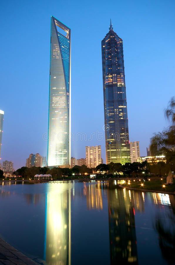 Shanghai Modern buildings royalty free stock image