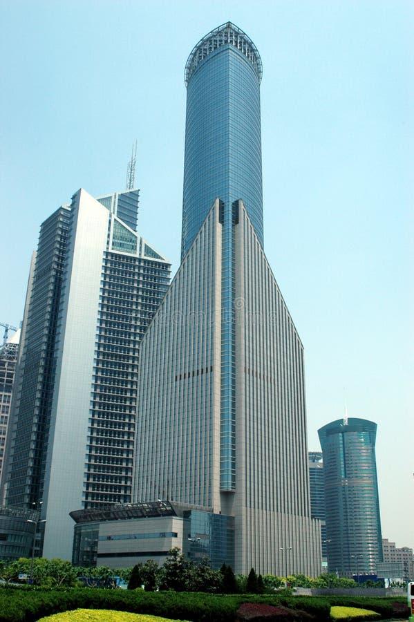 Shanghai - modern skyscrapers stock photos