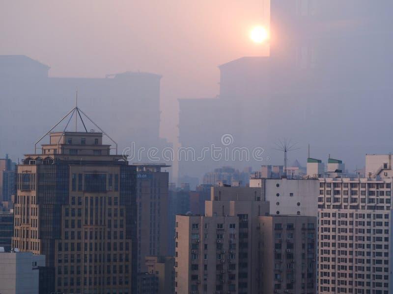 Shanghai morgon arkivbilder