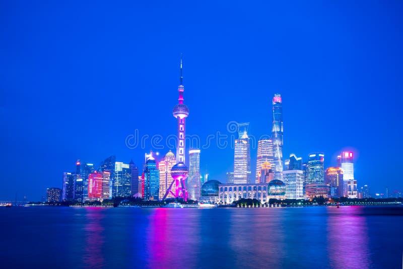 Shanghai-Nacht lizenzfreies stockbild